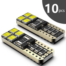 SEALIGHT 10PCS T10 W5W 168 LED 2825 bulbs Car interior light 194 501 Side Wedge Auto Dome Map Door Parking License Plate Lights 100pcs univeral t10 wedge 5 smd 5050 xenon led light bulbs 192 168 194 w5w 2825 158 cool white license plate lights freeshipping