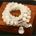 Natural opal beads bracelet for women brave Buddha pendant vintage women bracelets fashion jewelry for the new year gift 2017 36