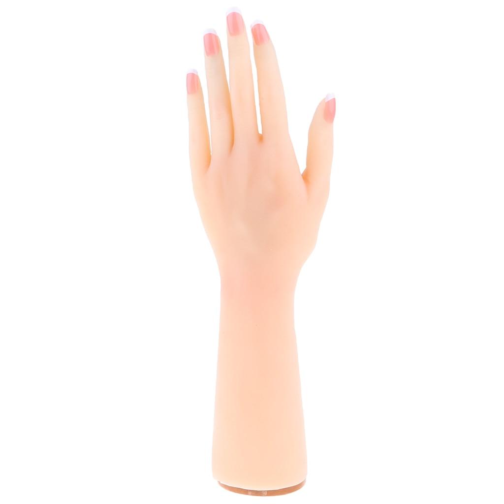 Flexible 1:1 Femme Silicon Main Modèle w/Joints Chirurgie Beauté Kits Prop De Massage Acupuncture Nail Art Pratique-Gauche