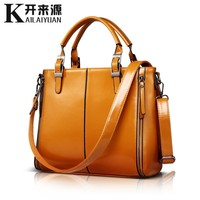 SNBS 100% Genuine leather Women handbags 2018 New Fashion Handbag Brown Women Bag Vintage Messenger Bag Office Ladie Briefcase