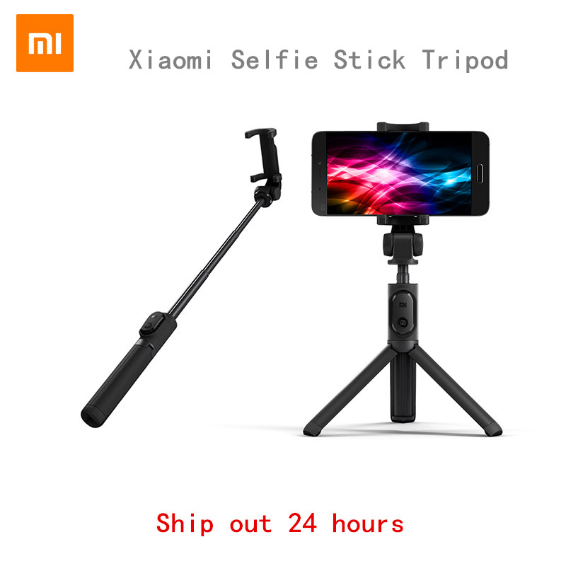 original xiaomi foldable handheld tripod monopod selfie stick bluetooth with. Black Bedroom Furniture Sets. Home Design Ideas