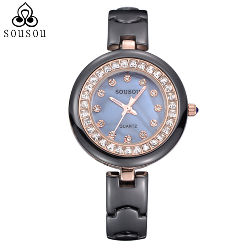 Black/White Diamond Ceramic Women Dress Watch Ladies Gift Watches Relogio Feminino Clock Female Wristwatch Ceramic Style reloj карабин black diamond black diamond vaporlock screwlock