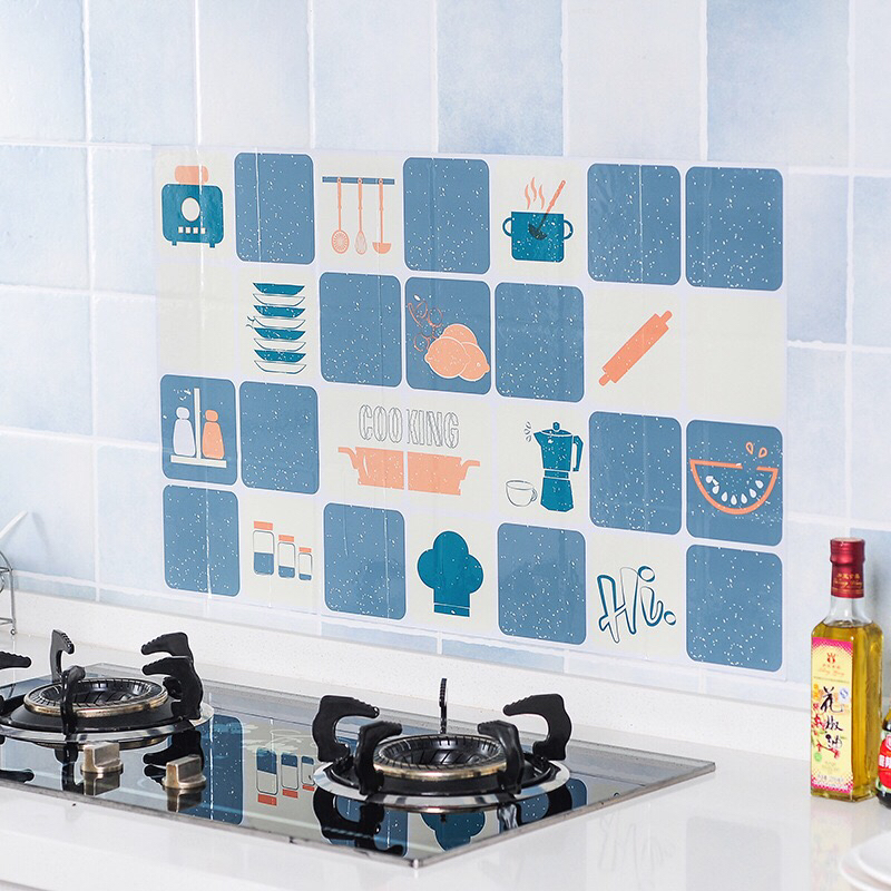 MTL kitchen Waterproof Oil-proof Tile Home Paste Wall Stickers paper For Bathroom Kitchen(China)