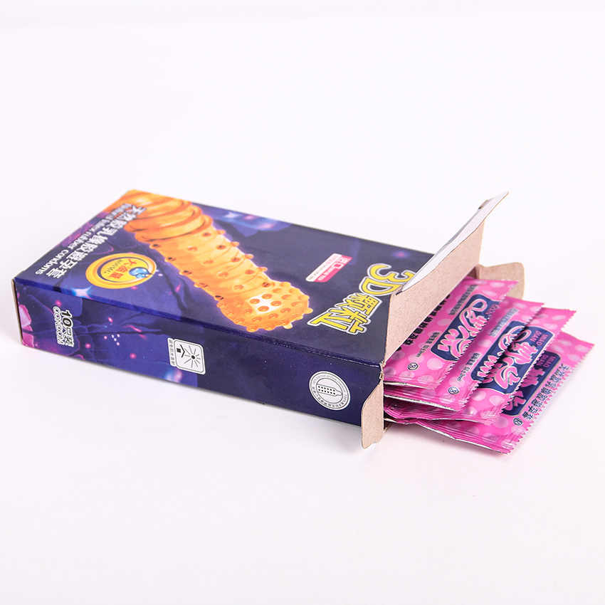 10PCS 3D Partikel Ribbed G Titik Lateks Kondom Kontrasepsi Besar Partikel Minyak Besar Kondom Pria Produk Seks Mainan Seks