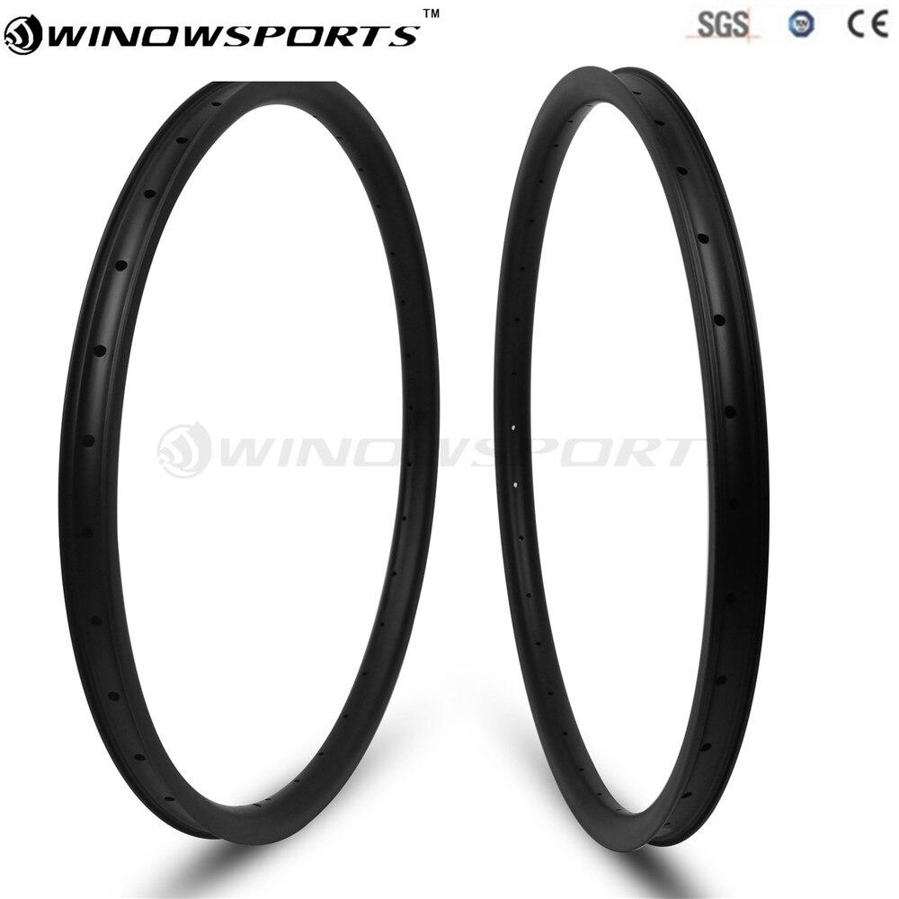 2018 Asymmetry 29er MTB Rim with 33mm Width offset Carbon Mountain Bicycle Rim 30mm Mtb Bike Wheel