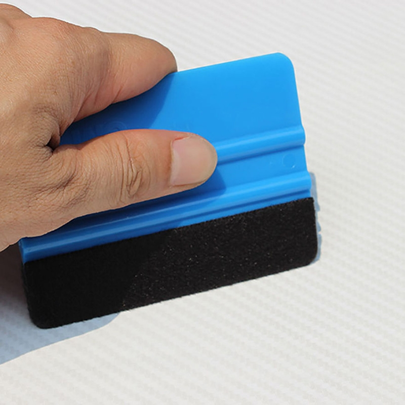 1PCS Car Vinyl Film Wrapping Tools Blue Scraper Squeegee With Felt Edge Size 10cm*7.5cm Car Styling Stickers Accessorie