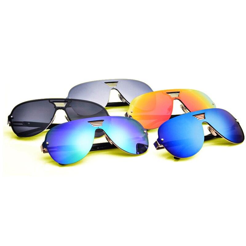 2017 New Modische Polarisierte Sonnenbrille Frauen Männer Frosch Spiegel Bunte Beschichtung Sonnenbrille Punk Oculos Gläser Metallrahmen