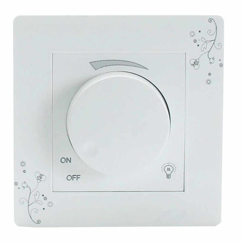 Диммер, переключатель, Регулируемый регулятор яркости света, световая стеновая панель переключателя переменного тока 110-250 В
