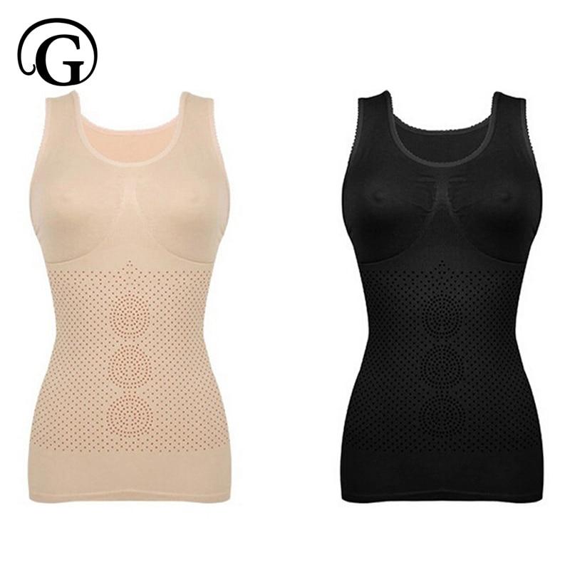 84ed97e633b2f PRAYGER Women Infared Corset Slimming Waist Body Shaper Seamless Lift  Breast Tops Tummy Trimmer Shapers Vest-in Tops from Underwear   Sleepwears  on ...