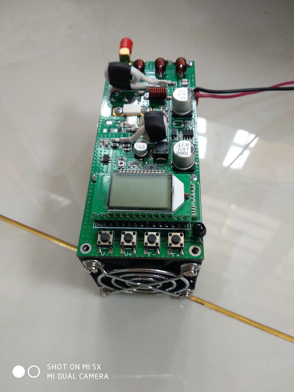 Digital LCD 50W  FM Transmitter Radio Station PLL Stereo 87-108MHz Ham Amplifier