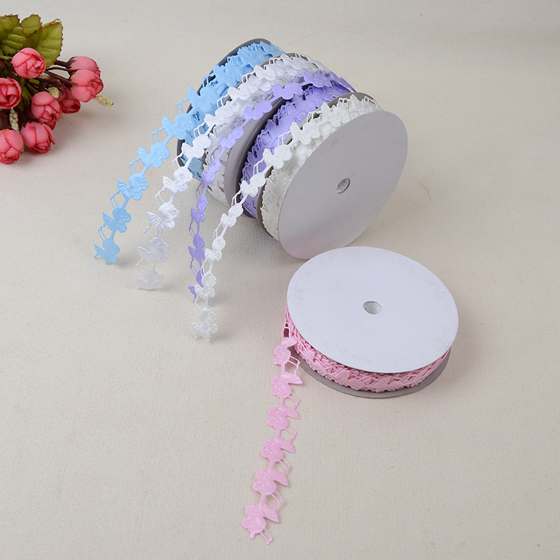 Openwork Lace Craft Ribbon Webbing Accessories 1.8 cm *20 Yards Embossed Polyester Sideband Clothing Shoes Home