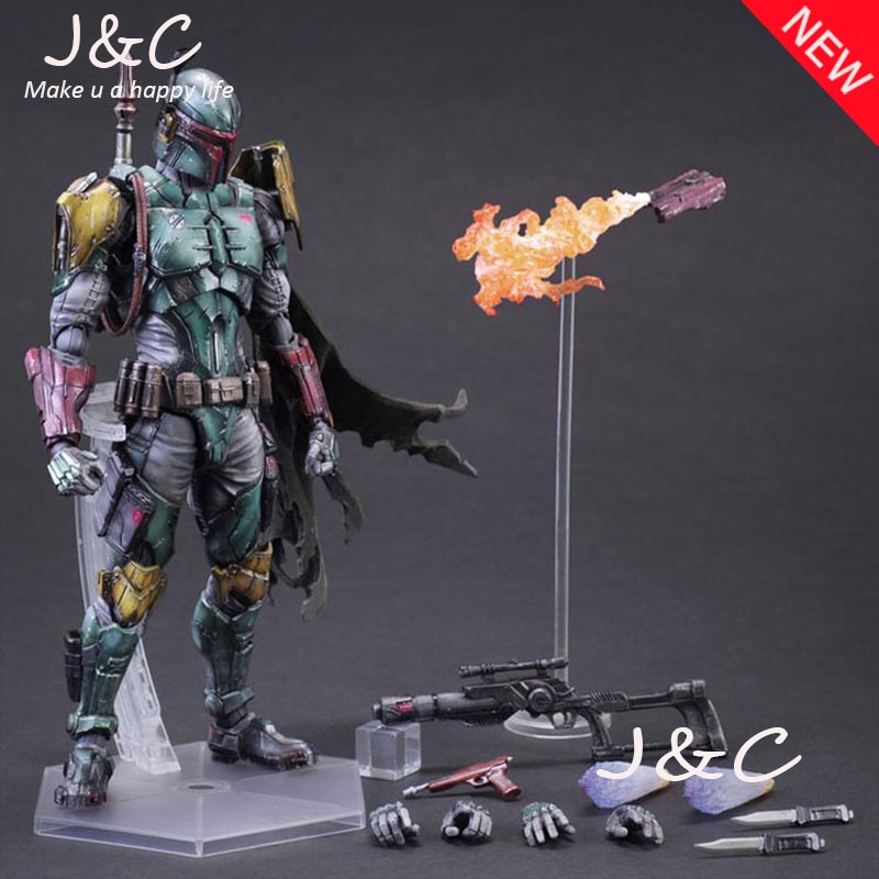 Play Arts Kai PA Star Wars Boba Fett Figure Model PA 27cm PVC Action Figure Doll Toys Kids Gift Brinquedos play arts kai pa thor figure super hero hammer pa 27cm pvc action figure doll toys kids gift brinquedos