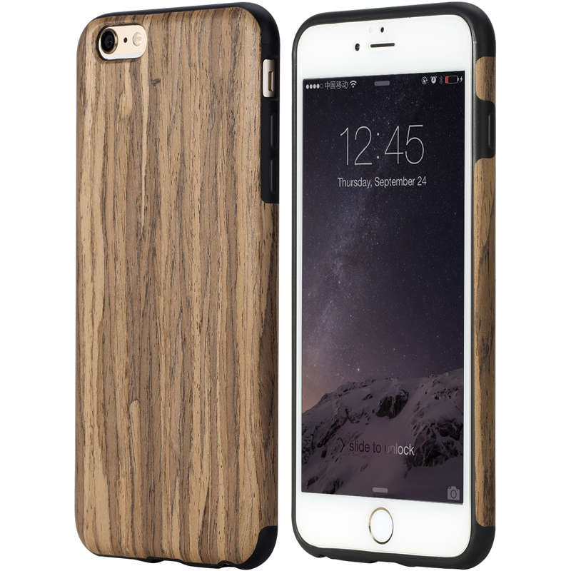 bilder für Original Rock marke fall für iPhone 7 fall Element Serie Holz korn + TPU Protective Rückseite Fall für iPhone 6 6 s Plus Fall