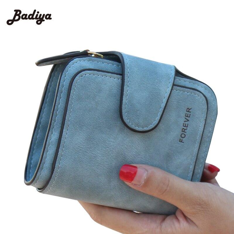 Lady Snap Fastener Zipper Short Clutch Wallet