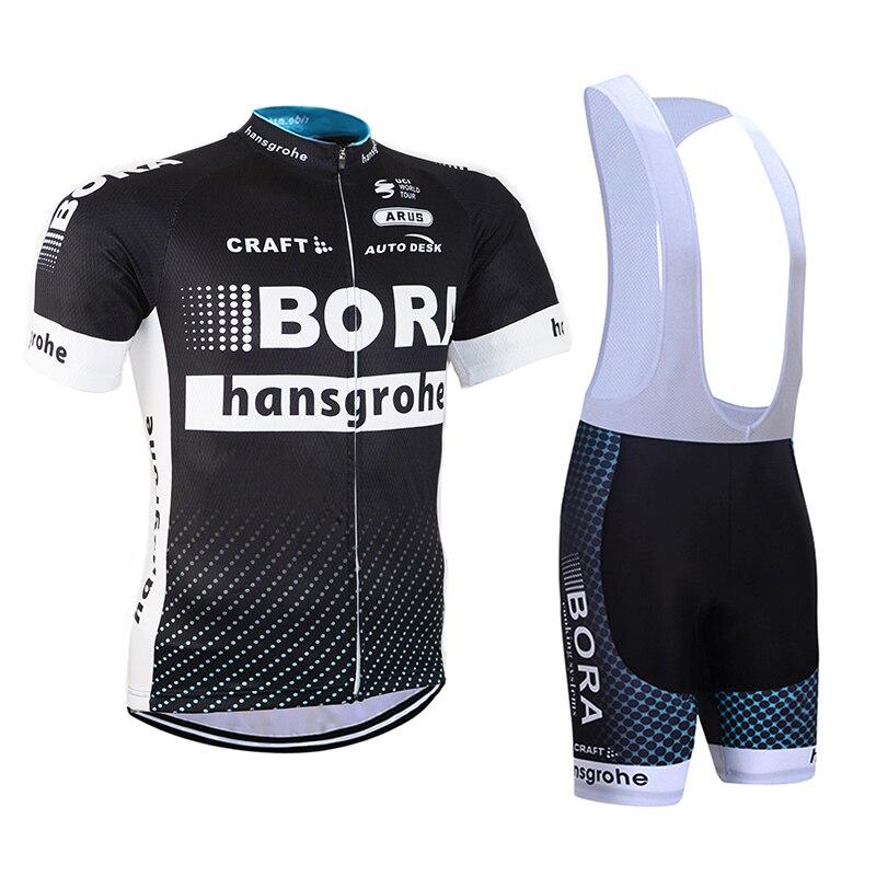 Prix pour 2017 ÉQUIPE BORA Ropa Ciclismo Vélo Jersey De Bicyclette De Vélo Porter avec un pantalon à bretelles Gel rembourrage vtt vélo vêtements