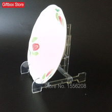 Adjustable Plastic Dish Rack Transparent Display Frame Dish Plate Rack Holder