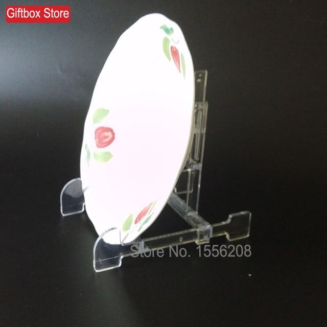 Ajustable estante de plato de plástico transparente pantalla Marcos ...