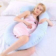 Большие хлопковые постельные принадлежности для беременных женщин, Подушка для беременных с-образной формы, поддержка живота, защита для сна и кормления