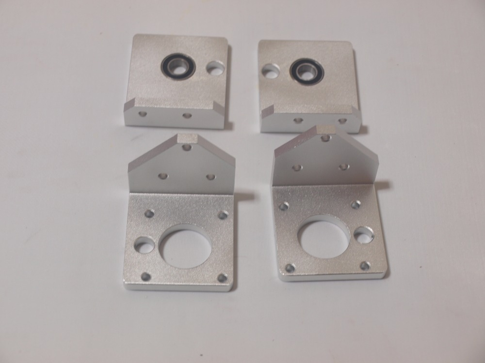 Reprap Prusa i3 rework 3D printer parts aluminum metal Z-AXIS BOTTOM LEFT/RIGHT +Z-AXIS TOP LEFT/RIGHT kit/set for 8mm