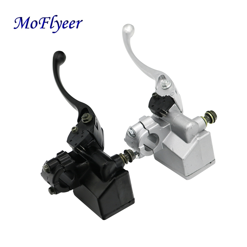 MoFlyeer Black Universal 7 8 22mm Motorcycle Front Brake Clutch Master Cylinder Hydraulic Pump Lever For