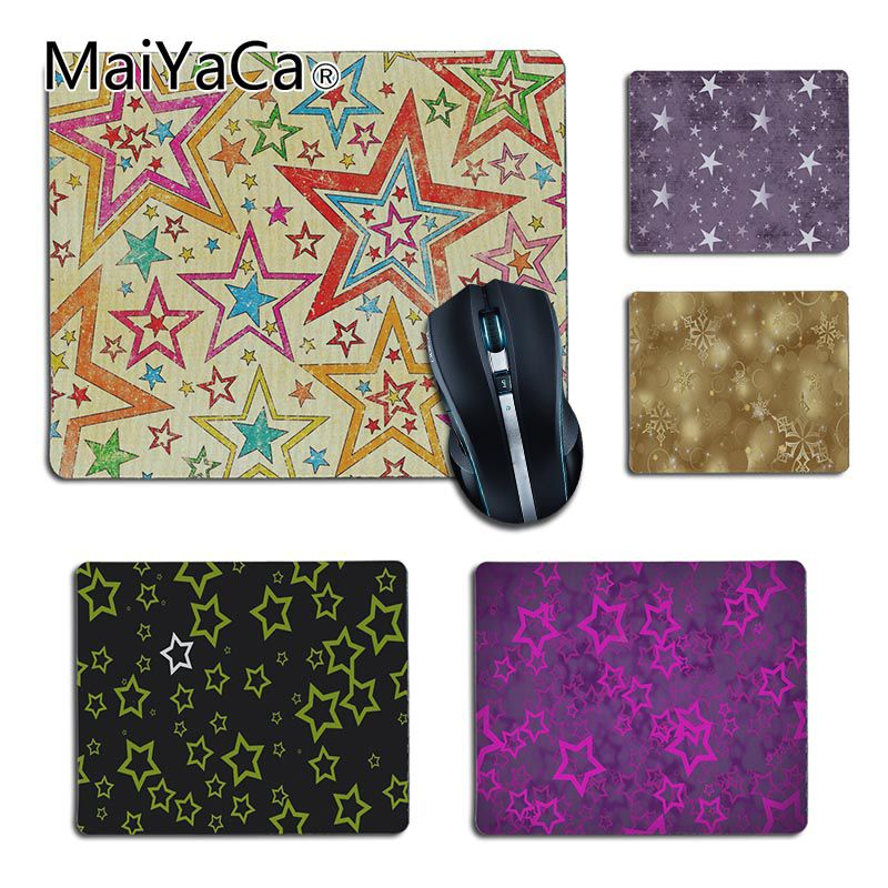 MaiYaCa Beautiful Star background Pattern small Gaming MousePads High Quality Desktop Size for 25X29cm 18x22cm Gaming Mousepads ...