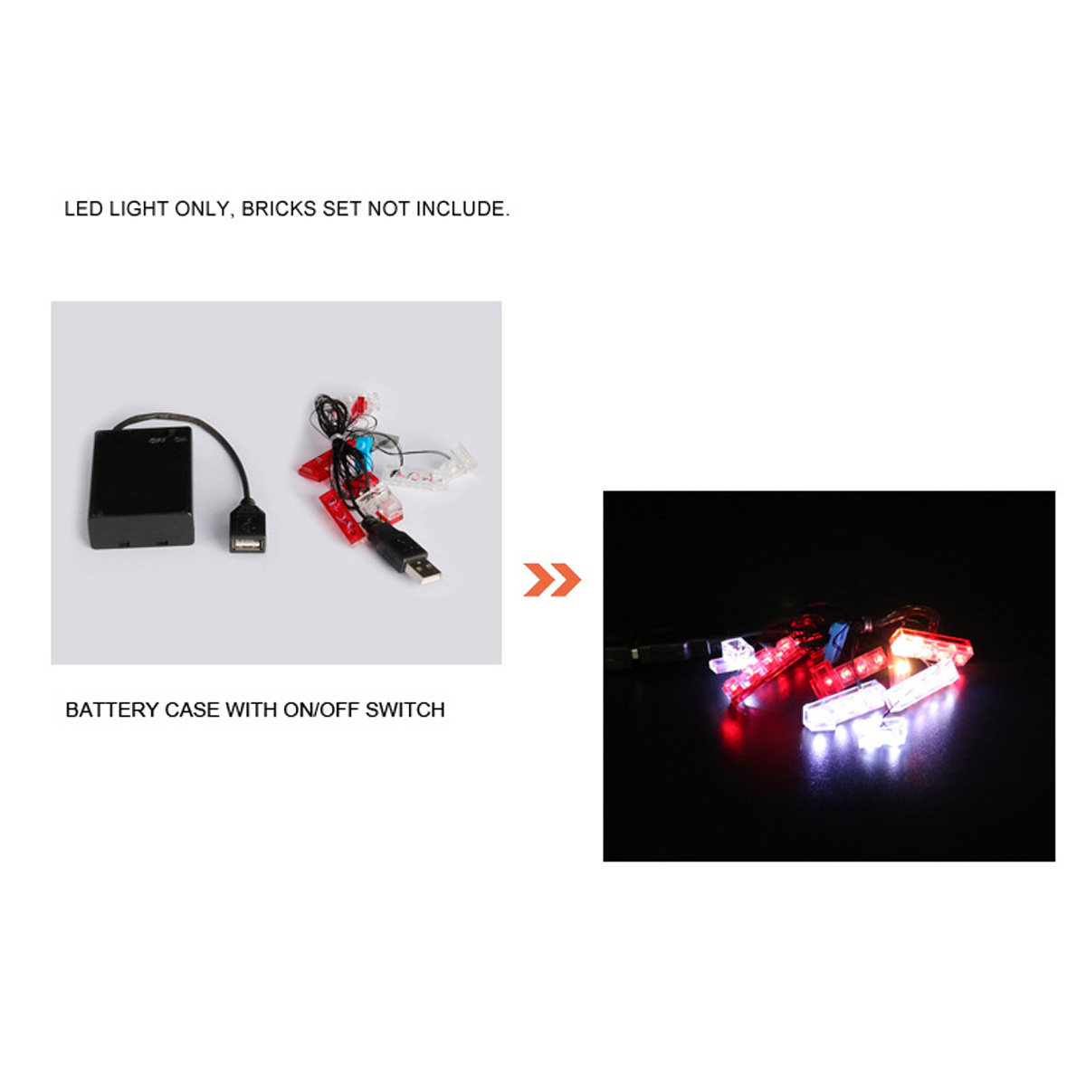 LED Lighting Kit for Lego for 42056 for Porsche 911 GT3 RS Toy Bricks Car Lighting Parts Powered by USB ( Model Not Included ) 4