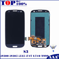 Para samsung galaxy s3 i9300 i9301 i9305 i535 i747 l710 T999 LCD Screen Display Toque Digitador Assembléia Substituição para S3 telefone