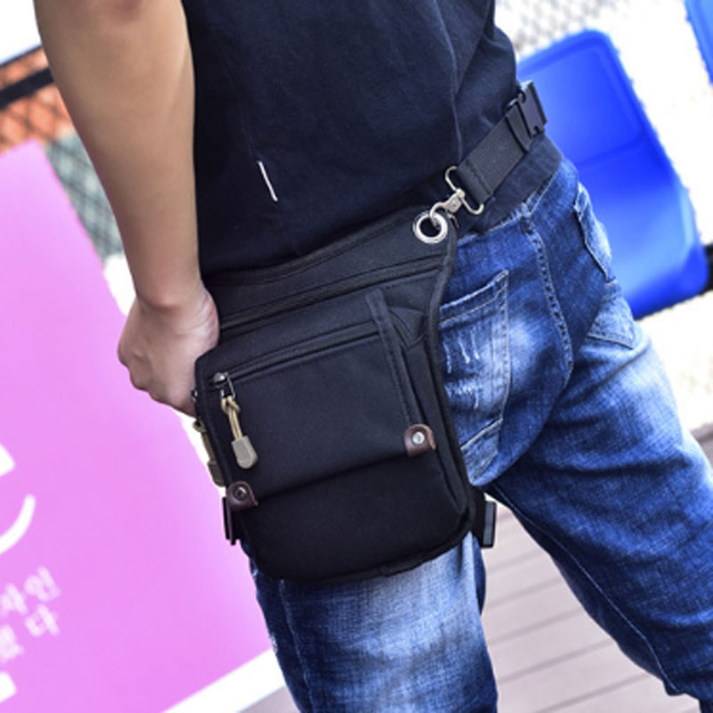 New  Men's Nylon Waist Fanny Drop Leg Bag Military Travel Fashion Motion Multi-purpose Messenger Shoulder Bags