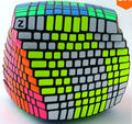 Exclusivo 11x11 Cubo de la Velocidad Puzzle Negro 11x11x11 Terminado con Z Pegatinas (Brillante Completo)