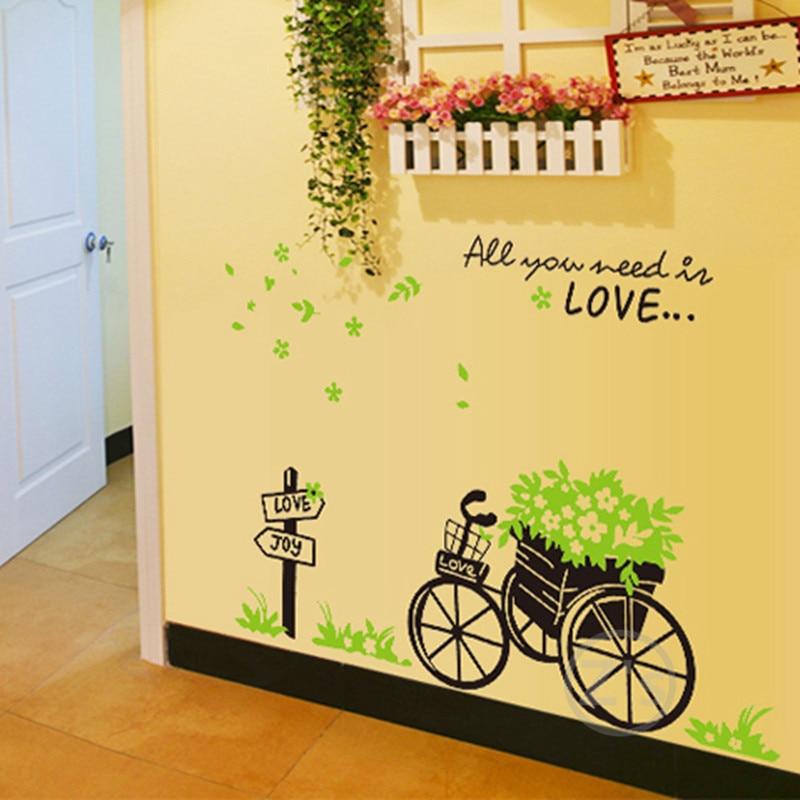 Zs Sticker grass wall decals bike stickers bicycle wall sticker home ...