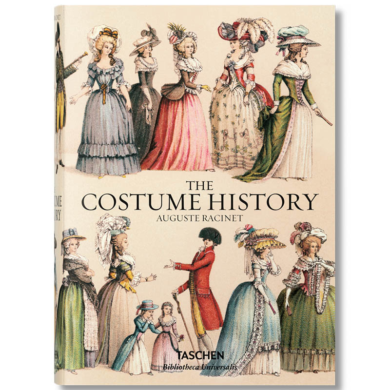 New COSTUMES HISTORY Classical palace costume design history book for adult Auguste Laxi costume hardcover book image