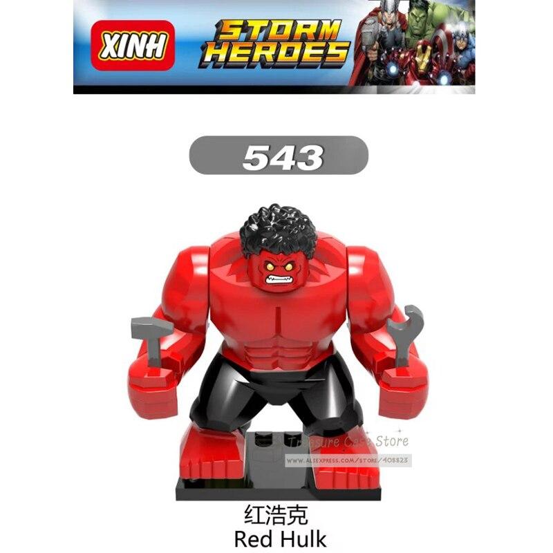 NO.543 Red Hulk Individual Figure Super Hero Building Toys Blocks
