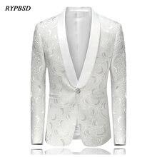 Мужской пиджак Повседневный Свадебные 2020 мода slim fit белый