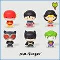 Г-н Froger DC Comics Лига Справедливости Бэтмен Вспышки Wonder Woman Автомобиль украшения 5 см Фигурку Q издание стиль украшения подарок