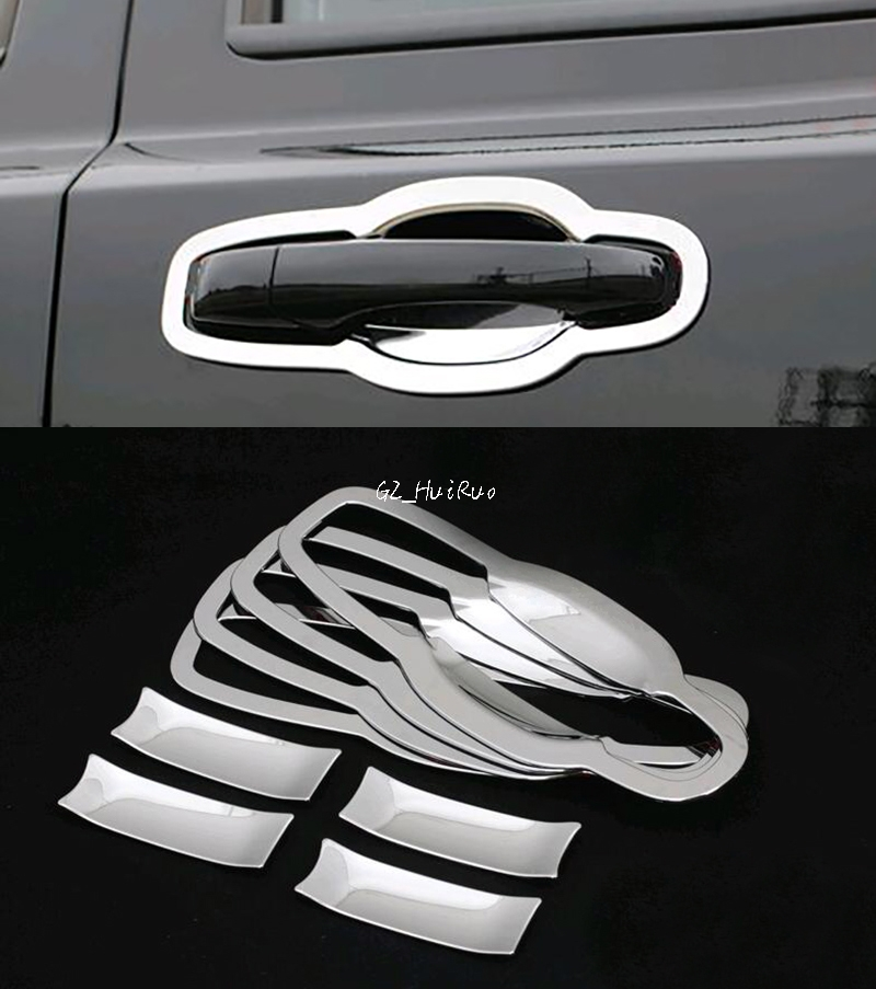 Styling Accessories for Jeep Grand Cherokee 2011 2012 2013 2014 2015 Door Outside Handle Bowls Trim ABS Chrome 8pcs
