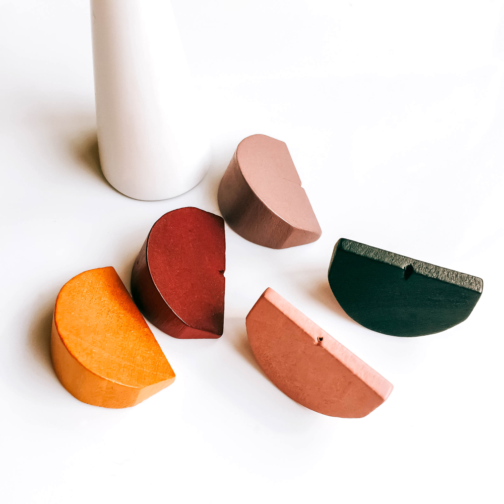 Wooden Block Goods Ear Drop Necklace Pendant Bracelet Charms Pendant Accessories Jewelry Component Diy Material 10pcs