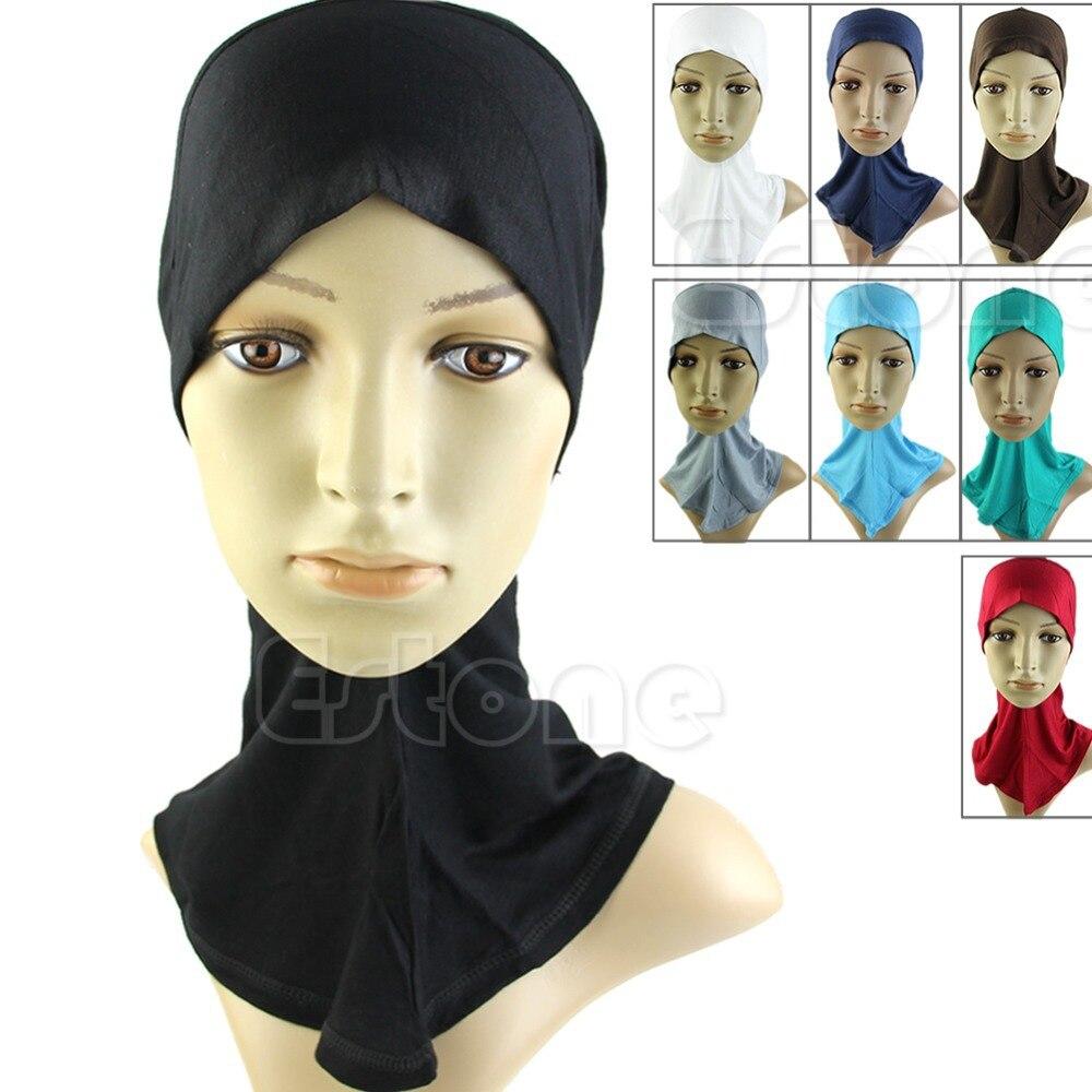Hijab Sous Écharpe Cap Os Bonnet Islamique Tête Usure Bande Cou Poitrine  Couverture Chapeau
