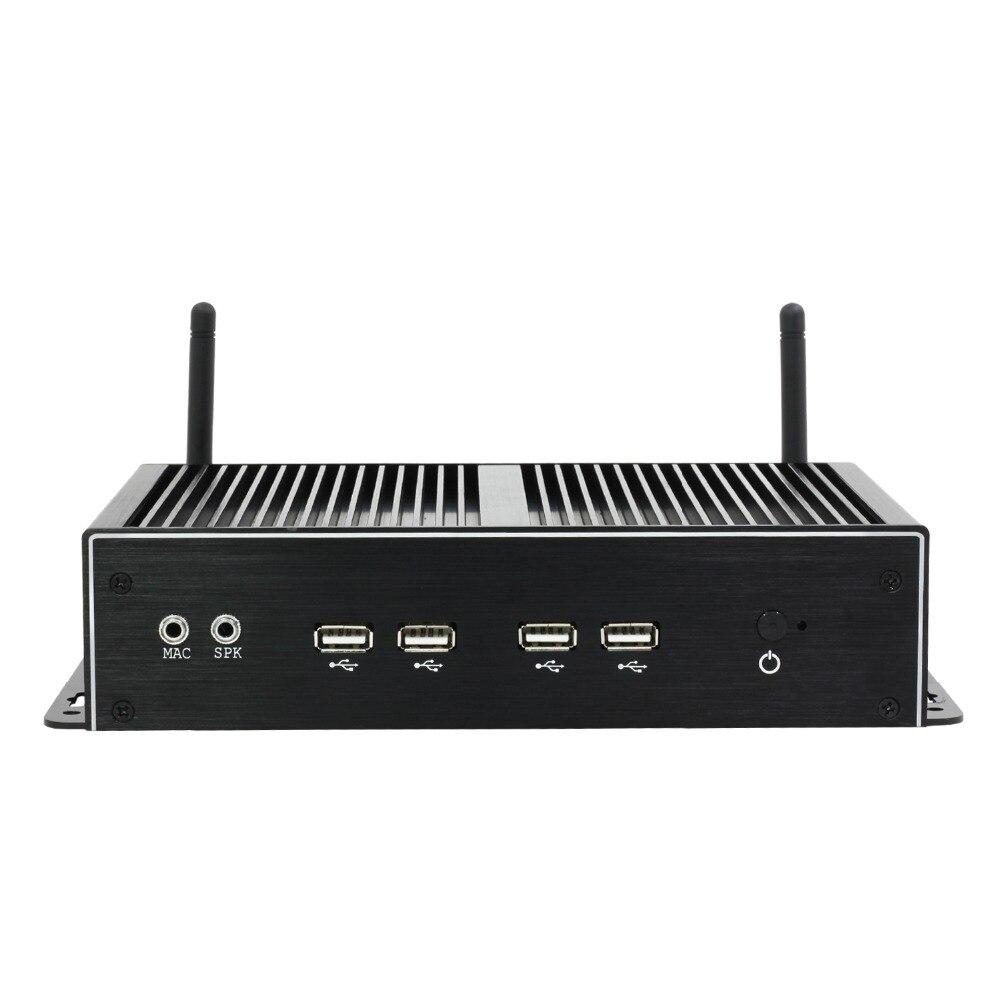 Image 2 - Двойной гигабитный Ethernet LAN Мини компьютер безвентиляторный Core i5 4200U Мини ПК Celeron 2955U 6 * COM поддержка AES NI PFSense Windows OS wifi-in Мини-ПК from Компьютер и офис