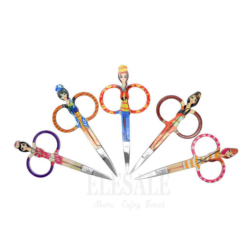 New 1-5Pcs Color Stainless Steel Mini Scissors First Aid Kits Supplies Makeup Eyebrow Eyelashes Scissors Hand Craft Accessories