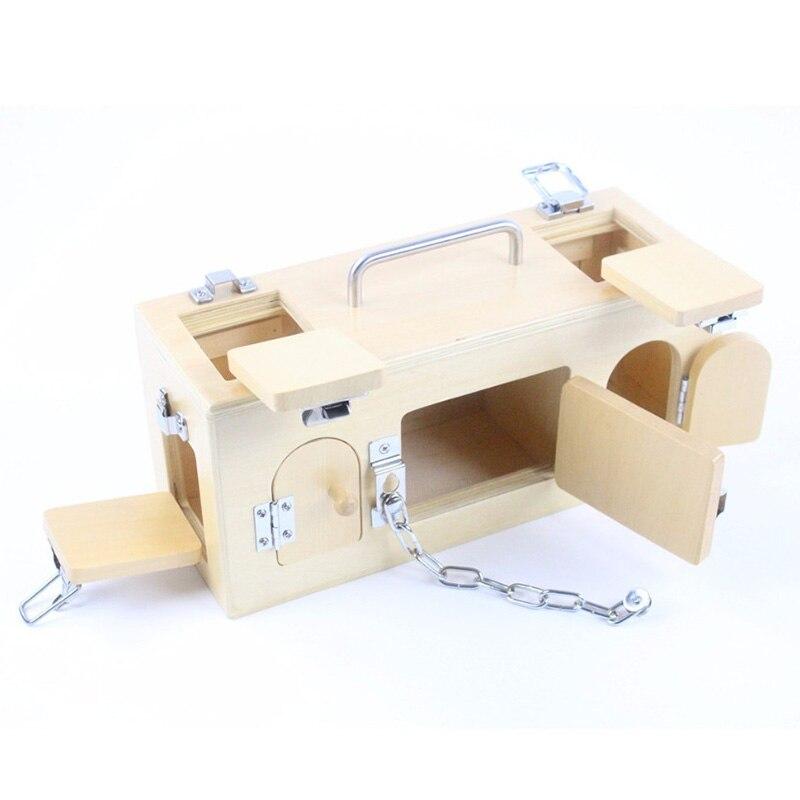Montessori enfants jouet bébé bois serrure boîte mémoire jeu apprentissage éducatif préscolaire formation Brinquedos Juguets - 4