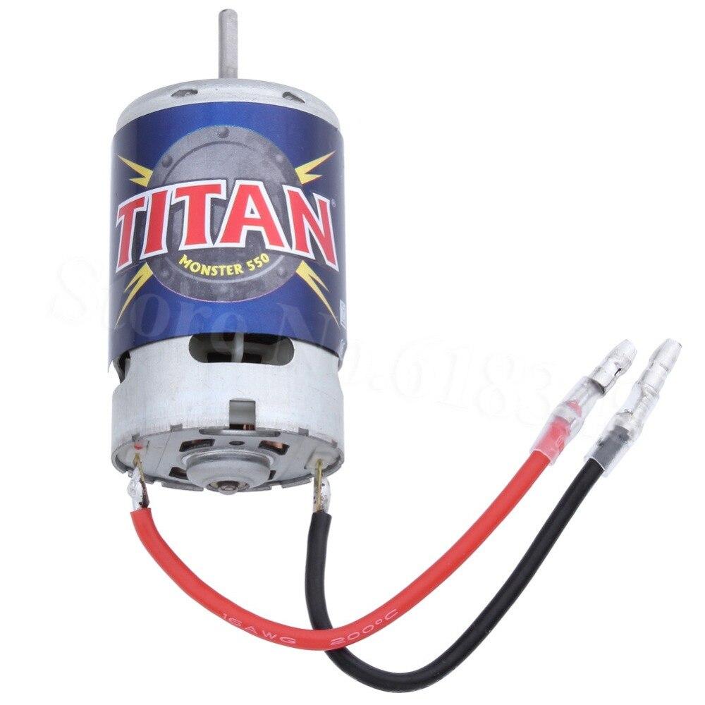 Traxxas 3975 Titan 21-Turn 21T 550 Motor 14.4 volts Fan-Cooled Forward & Reverse For 1/10 E-Revo E-Maxx Monster Truck