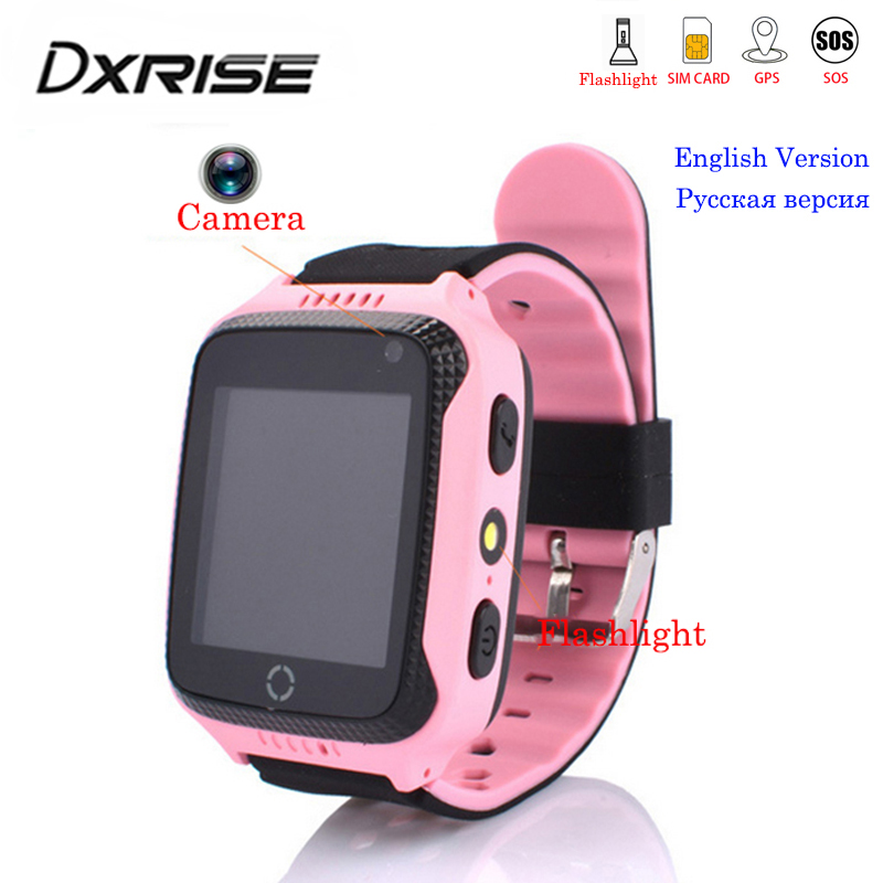 Smart-Watch Lighting Camera Clock Phone Call-Monitor Sim-Card Touch-Screen Location-Sos