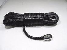 "أسود 10 مللي متر * 26 متر حبل رفع تمديد ، 3/8 ""حبل اصطناعي ، حبل رفع كيفلر"