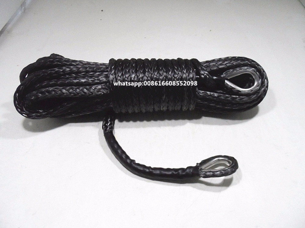 """Black 10mm*26m Winch Rope Extension,3/8""""Synthetic Rope,Kevlar Winch Rope-in Towing Ropes from Automobiles & Motorcycles"""