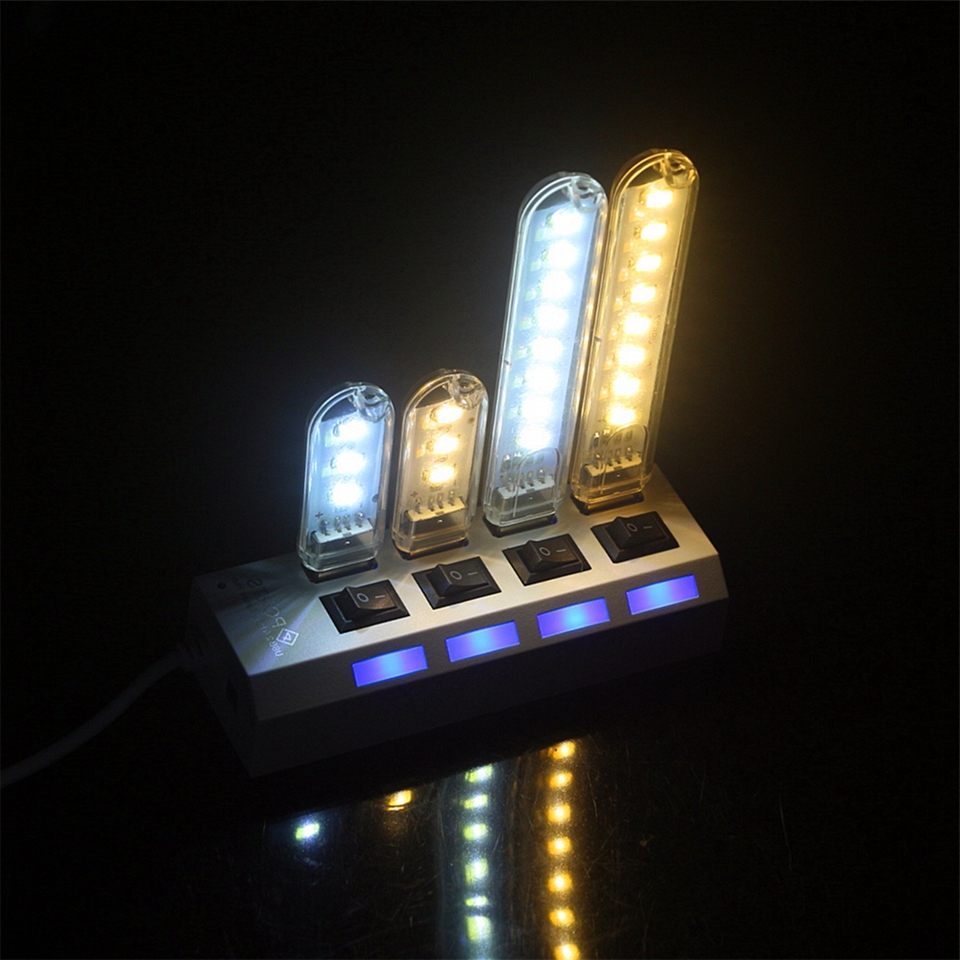 Mobile Power Mini USB LED Lamp Camping Computer Portable Night Gadget Lighting