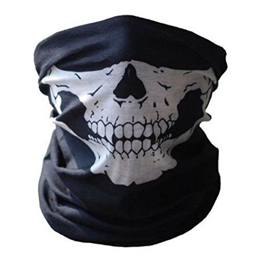 Giraffita Christmas Halloween Scarves Outdoor Scarf Mask Variety Turban Scarves Face Mesh Headband Skull Print Scarf