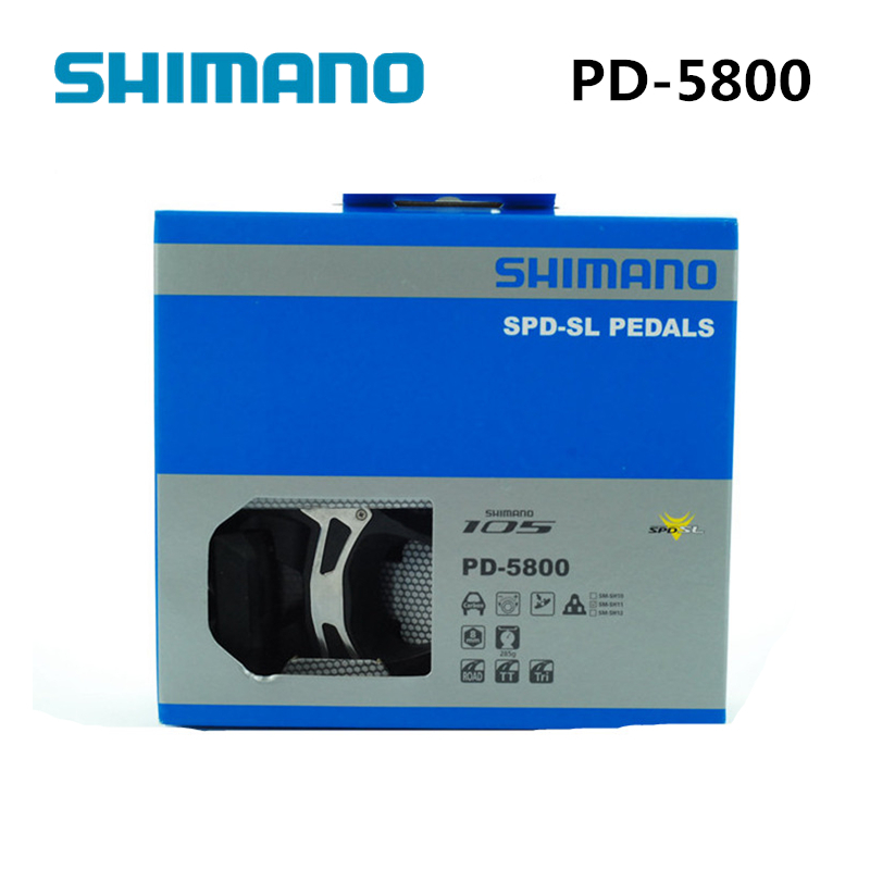 shimano 105 PD 5800 Self-Locking SPD Pedals Components Using for Bicycle Racing Road Bike Parts цены