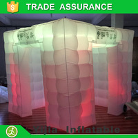 Event party use lighting inflatable photo booth tent for 3D printer photobooth machine