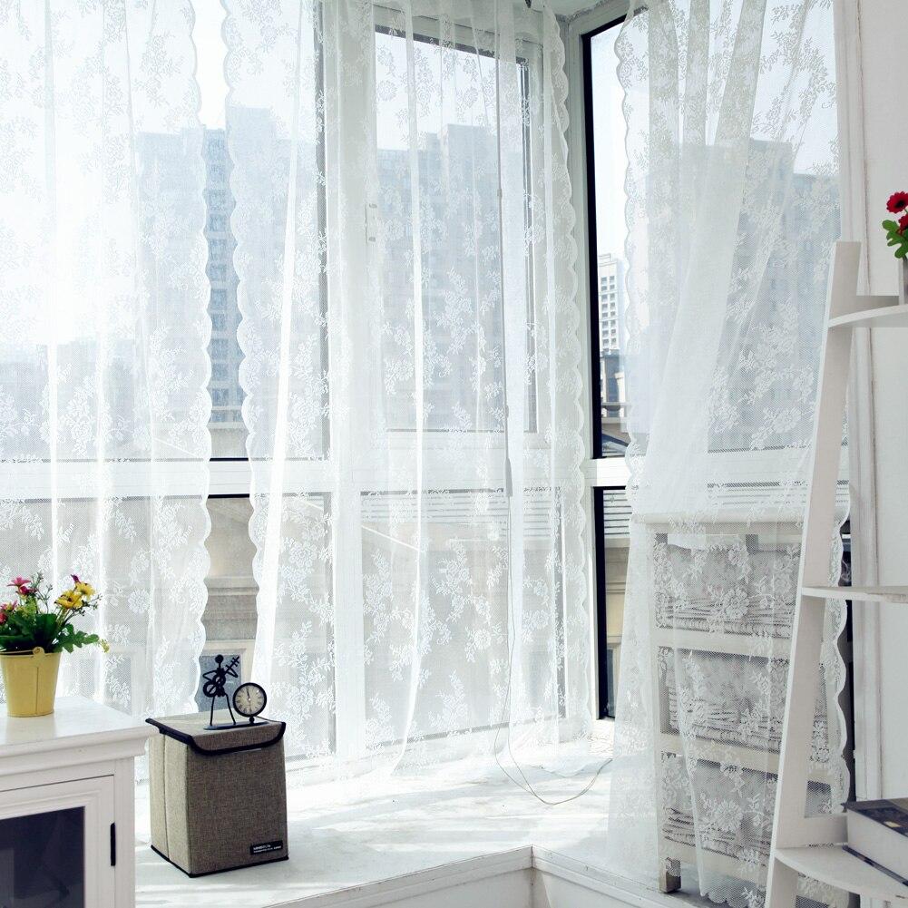 Gardinen Voile Tüll Vorhänge Insect Bett-überdachung-filet Drapieren Panel Blatt Tür Fenster Schiere Vorhang für Wohnzimmer