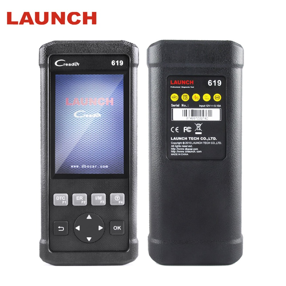 LAUNCH Automotive Scanner OBD II ABS/SRS/Airbag/Engine Diagnostic Tool CR619 OBD 2 Auto Scanner Car Diagnostic Airbag Scan Tool цена